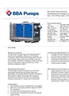 BBA Pumps BA100E D265 Diesel Driven Dewatering Pump and Sewage Pump - Technical Specifications