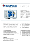 BBA Pumps BA100E D265 Electrically Driven Sewage and Dewatering Pump in Frame - Technical Specifications