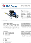 BBA Pumps B30-180 Self-Priming High Head Centrifugal Pump - Technical Specifications