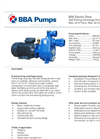 BBA Pumps B58 BVGMC - Self-Priming Centrifugal Pump - Technical Specifications