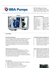 BBA Pumps  BV100 D260 Sludge and Bentonite Pump - Technical Specifications