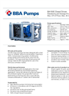 BBA Pumps BA150E D285 Diesel Driven Dewatering Pump and Sewage Pump - Technical Specifications