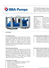 BBA Pumps PT150 D150 - 4kW Electrically Driven High Efficiency Wellpoint Dewatering Pump - Technical Specifications