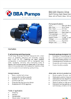 BBA Pumps B60-220 High Head Centrifugal Pump Self Priming Centrifugal Pumps - Technical Specifications