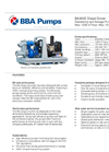BBA Pumps BA300E D328 Dewatering and Sewage Pump - Technical Specifications
