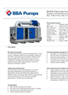 BBA Pumps BA300E D355 Dewatering and Sewage Pump - Technical Specifications