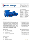 BBA Pumps BE160 Self-Priming Centrifugal Pump - Technical Specifications