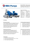 BBA Pumps BA-C500S11 D711 Water Transfer Pump - Technical Specifications