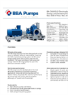 BBA Pumps BA-C600S12 D711 Water Transfer Pump - Technical Specifications