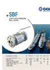 Model SBF - 2-Way High Pressure Ball Valves Brochure