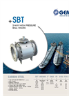 Model SBT - 2-Way High Pressure Ball Valves Brochure