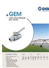 Model GEM - 2-Way High Pressure Ball Valves Brochure