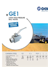 Model GE1 - 2-Way High Pressure Ball Valves Brochure