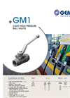 Model GM 1 - 2-Way High Pressure Ball Valves Brochure