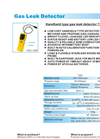 7291 - Gas Leak Detector – Specifications