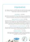 Multipure Aquaversa - Stainless-Steel Water Filter Technical Specifications