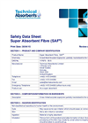 SAF - Super Absorbent Fibre Safety Data Sheet