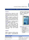 Online Analyser for Chromium Brochure