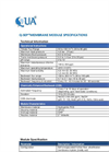 Q-SEP - Hollow Fiber Ultrafiltration Membranes Datasheet