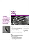 Airflow Testing Facility Brochure