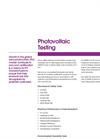 Photovoltaic Testing Brochure