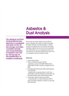Asbestos & Dust Analysis Brochure