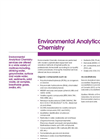 Environmental Analytical Chemistry Brochure