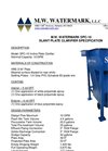 Model SPC - 10 - Slant Plate Clarifier Brochure