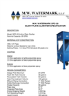 Model SPC - 20 - Slant Plate Clarifier Brochure
