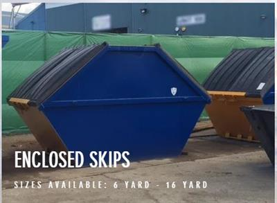 Enclosed Skips Container