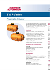 E & P Series - Pneumatic Valve Actuators Datasheet