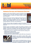 Asbestos Surveys and Abatement Services Brochure