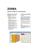 ZORBA - Software for Prediction of Sound Absorption Datasheet