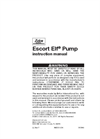 Escort ELF Pump Manual