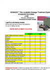 Nomadic LAMS Residential Strength Re-Locatable Sewage Treatment System - Standard Features - Datasheet