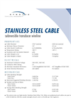 Submersible Transducer Wireline Stainless Steel Cable- Brochure