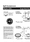 Model A100 - Replaceable Single Wall Poly Spill Containment Brochure