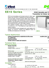 ATI - Model EE10 Analog - Wall Mounted Indoor Humidity & Temperature - Brochure