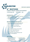"Karlington - 6"" Water-Filled Rewindable Motors Brochure"