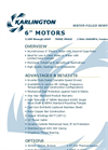 "Karlington - 8"" Water-Filled Rewindable Motors Brochure"
