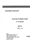 Gardner-Denver Duplex Mud Pumps and Parts - Brochure