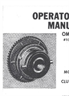 Model CL - Twin Disc and Wichita Clutches - Manual