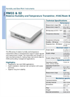 Model RM series - Relative Humidity and Temperature Transmitters - Datasheet