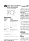 Catalytic Sensor - Specifications (PDF 41 KB)