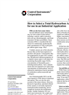 How To Select A Total Hydrocarbon Analyzer For Use In An Industrial Application - Application Notes (PDF 31 KB)