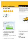 Electrocorder - Model CT-1A - AC Current Logger - Datasheet