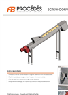 Model VTP - Screw Conveyor for Screening Waste Datasheet