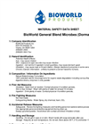 Wastewater Treatment for Industrial Operations - General Blend Microbes MSDS