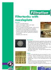 Filtertanks With Nozzleplate Datasheet