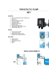 Model MP1 - Peristaltic Pump Brochure